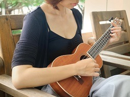 A person with a Ukulele